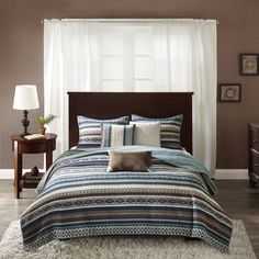 Shop for Madison Park Harley Blue Quilted Coverlet Set. Get free… Blue Bedding Sets, Comforter Sets, King Comforter, Rustic Quilts, Shabby, Blue Quilts, Quilt Bedding, Space Furniture, Quilt Sets