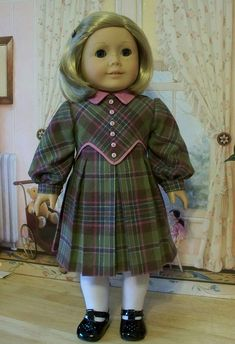 1930's Pleated Winter Frock- Made for Kit or Ruthie by Keepersdollyduds, via Flickr