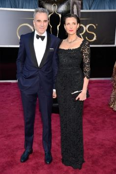 Actor Daniel Day-Lewis (L) and writer/director Rebecca Miller.  Won for Best Actor Lincoln.