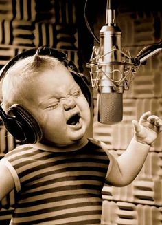 Singing as loud as you possible can