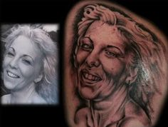Just wow. Sure she was totally honored. This is why I've never gotten a portrait tat lol