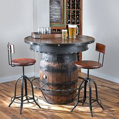 Tennessee Whiskey Barrel Pub Table at Wine Enthusiast - $2,295.00