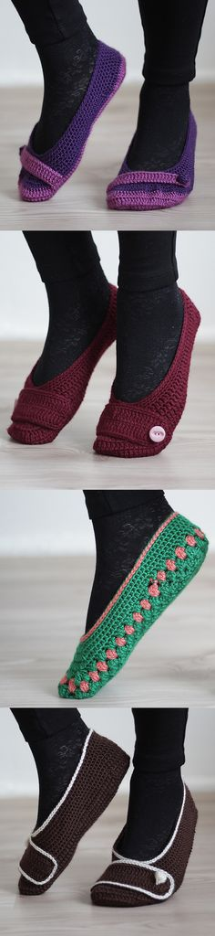 Crochet home slippers, so easy to make!