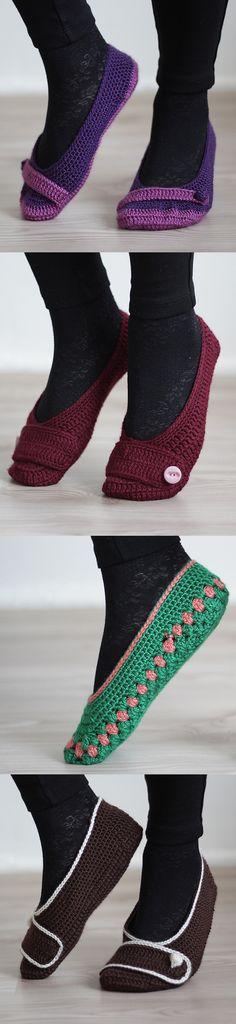 Crochet home slippers