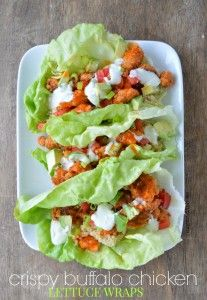 Buffalo Chicken Lettuce Wraps - Sugar Dish Me