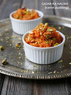 Gajar ka Halwa is a Carrot and Cardamom Pudding (Indian dessert made paleo) by Ashley of MyHeartBeets.com Paleo Indian Recipes, Beet Recipes, Indian Desserts, Indian Sweets, Healthy Diet Recipes, Fudge Recipes, Healthy Sweets, Yummy Recipes, Healthy Eating
