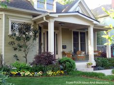 This is what we call porch envy - what a beautiful front porch. Found on Front-Porch-Ideas-and-More.com #porch