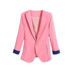 Contrast Trimming Slim Pink Blazer.Pink blazer, featuring lapel, buttonless and long sleeves styling, contrast trimming, two pocketed design, slim fit, soft-touch fabric. Wearing it with any shirts, shorts and fashion sandals is a perfect choice. - See more at: http://pariscoming.com/en-contrast-trimming-slim-pink-blazer-p149206.htm#sthash.4j9YmssH.dpuf