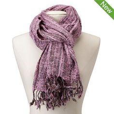 Tribal Scarf in Raspberry Red $21.95