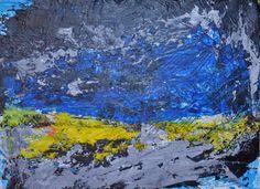 Becker Beste Blue Art, abstract painting, expressionist art, Earth art, colorist painting, sea art, acrylic painting, Berlin art, art decor.