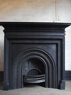 Antique Coalbrookdale  Victorian cast iron fireplace surround. - Fireplace Surrounds