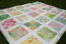 Vintage Linen Scrappy Quilt by Janice Ryan made using a combination of vintage sheets and linen. (www.sewgirlyalterations.com)
