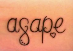 agape: selfless love of one person for another