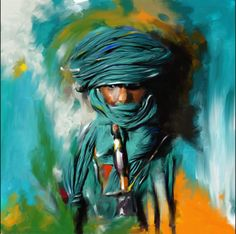 Bedouin Man - Painting by Mawra Tahreem