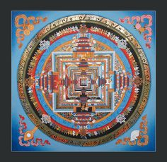Kalachakra Mandala Thangka Painting by HandmadeLadinark on Etsy