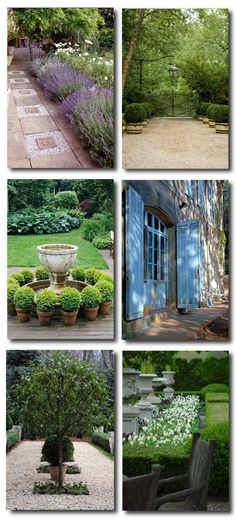 Outdoor Provence,French Decorating, French Outdoor gardens, French Landscaping, French Gardens, French Provence, Old World Landscaping, Old Gardens, Distressed Furniture, Iron Patio Furniture, Painted Furniture, Rustic Decorating
