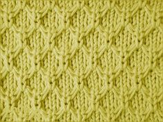 Mock Honeycomb textured stitch pattern
