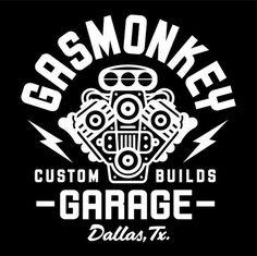 Logo of Gas Monkey Garage Logo of Gas Monkey Garage Gas Monkey Garage, Gas Monkey Logo, Gaz Monkey, Motos Vintage, Garage Logo, Design Garage, Custom Garages, Marken Logo, Ex Machina