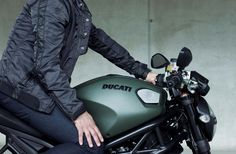 Ducati Clutch Jacket by Diesel (uhh.not to mention the Ducati this kid is planted on. Ducati Motorbike, Chopper Bike, Bike Style, Men's Style, Ducati Monster, Lady Biker, Toy Trucks, Bike Life, Cars And Motorcycles
