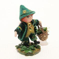 Lil Leprechaun Art Doll Miniature St Patrick's by TwoLeftHands