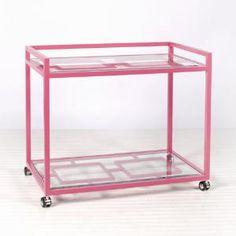 hot pink bar cart