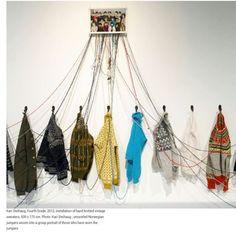 Kari Steihaug weaving inspiration today. Home with sick kid.  No studio today. by rachelhineartist
