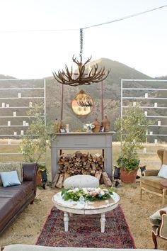 Rustic outdoor living room