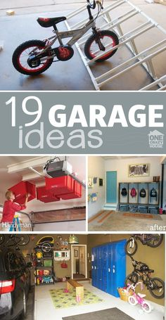 19 Ideas to make your Garage more organized!
