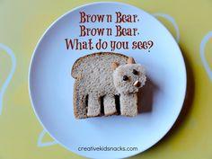 Bear Sandwich- very cute! good for Brown bear, Brown Bear , What Do you See?