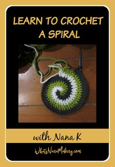 Nana K's tutorials are quick, easy to follow and explained in detail.  Whether you are making a hot pad or an extra large rug, crocheting in a spiral can be fun.  And it's so easy!  This tutorial outlines everything you need to know to start today. Crochet Afghan Stitch, Crochet Shell Stitch, Crochet Stitches Patterns, Spiral Crochet, Half Double Crochet, Crochet Basics, Crochet For Beginners, Linen Stitch, Moss Stitch