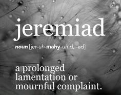 Jeremiad