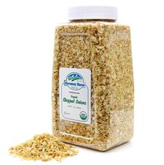 Our JAR SIZE contains a FULL QUART (4 Cups) of fresh tasting Organic dried Onions! Excellent for backpackers, RV'ers, or for your cupboard! Never cry again! Our deliciously sweet dehydrated onion flakes can be used in numerous dishes from casseroles, stews, chili, and soup. They have a very mild flavor, and take all the work out of preparation. Just add a small amount while your cooking, and they'll plump up to be tender onion dices. Dehydrated Vegetables, Organic Recipes, Flakes, Onions, Cupboard, Casseroles, Stew, Cry, Chili