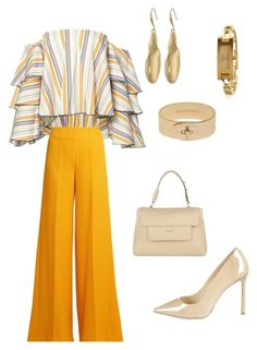 """""""Untitled #117"""" by lecoiffeur on Polyvore featuring Caroline Constas, Emilia Wickstead, Furla, Jimmy Choo, Mulberry, Robert Lee Morris, Gucci and lecoiffeur"""