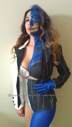 Sexy Homemade Two Face Costume... Homemade Costumes for Women