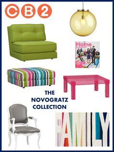 The Novogratz Collection, CB2, interior designer, e-décor, e-design, online interior design services
