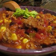 [THIS IS HAS BEEN A FAVORITE FOR A WHILE, ONLY I DOUBLE THE BEANS AND ADD MORE OF ALL SEASONINGS SAVE WHAT'S RECOMMENDED FOR CINNAMON.]  Best Yet Turkey Chili Allrecipes.com