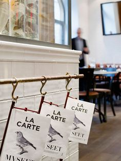#Bach#Garde | branded restaurant menus in style of hung/ironed newspapers