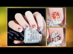 Fall nail art tutorial - YouTube
