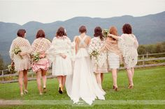 vintage shawls for the bridesmaids