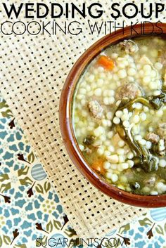 Italian Wedding Soup recipe. Cooking with kids is fun and easy. This is a great food for Toddlers!