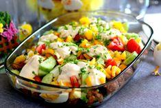 Wiosenna Sałatka – TOP 14 Przepisów na Sałatkę z Świeżymi Warzywami Toblerone, Top 14, Recipe Box, Cobb Salad, Potato Salad, Meal Box, Potatoes, Meals, Ethnic Recipes