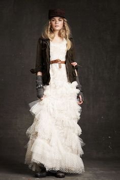 Crew Fall 2010 Ready-to-Wear Fashion Show Collection: See the complete J.Crew Fall 2010 Ready-to-Wear collection. Look 10 Steampunk Lolita, Grunge Wedding, Fashion Degrees, Fall Lookbook, Rock, Dress Up, Play Dress, Ruffle Dress, Ruffles
