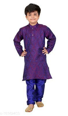Kurta Sets Vesh Cotton Kurta Pajama Set for Boys Kids Top Fabric: Cotton Bottom Fabric: Dupion Silk Sleeve Length: Long Sleeves Bottom Type: pyjamas Top Pattern: Embellished Multipack: 1 Sizes:  4-5 Years (Top Bust Size: 26 in, Top Length Size: 24 in, Bottom Waist Size: 22 in, Bottom Length Size: 22 in)  5-6 Years (Top Bust Size: 27 in, Top Length Size: 26 in, Bottom Waist Size: 23 in, Bottom Length Size: 23 in)  3-4 Years (Top Bust Size: 25 in, Top Length Size: 22 in, Bottom Waist Size: 22 in, Bottom Length Size: 21 in)  8-9 Years (Top Bust Size: 32 in, Top Length Size: 32 in, Bottom Waist Size: 28 in, Bottom Length Size: 28 in)  6-7 Years (Top Bust Size: 28 in, Top Length Size: 28 in, Bottom Waist Size: 24 in, Bottom Length Size: 24 in)  7-8 Years (Top Bust Size: 30 in, Top Length Size: 30 in, Bottom Waist Size: 26 in, Bottom Length Size: 26 in)  9-10 Years (Top Bust Size: 34 in, Top Length Size: 34 in, Bottom Waist Size: 30 in, Bottom Length Size: 30 in)  2-3 Years (Top Bust Size: 24 in, Top Length Size: 20 in, Bottom Waist Size: 22 in, Bottom Length Size: 20 in)  Country of Origin: India Sizes Available: 2-3 Years, 3-4 Years, 4-5 Years, 5-6 Years, 6-7 Years, 7-8 Years, 8-9 Years, 9-10 Years   Catalog Rating: ★4 (857)  Catalog Name: Pretty Funky Kids Boys Kurta Sets CatalogID_3209445 C58-SC1170 Code: 313-16142403-939