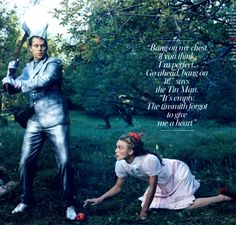 Celebs as Disney Characters - Keira Knightley as Dorothy, John Curry as the Tin Man