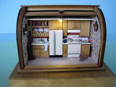 Miniaturists and Dollhouse Artisans use LEDs - Gallery  kitchen in breadbox