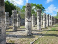 The Group of 1000 Columns at Chichen Itza -> Check out my blog post for more photos from my explorations at the Mayan ruins of Chichen Itza in Mexico's Yucatan Peninsula.