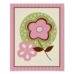 A la Mode Flower Nursery Wall Art Print 8X10