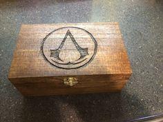 Assassin's Creed Woodburned Box by TheBurningEdge on Etsy, $50.00