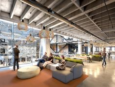 2016 Design Forecast - Workplace | Gensler  Hanging lamps to Right for TB