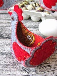 Felt chicken egg cup idea.